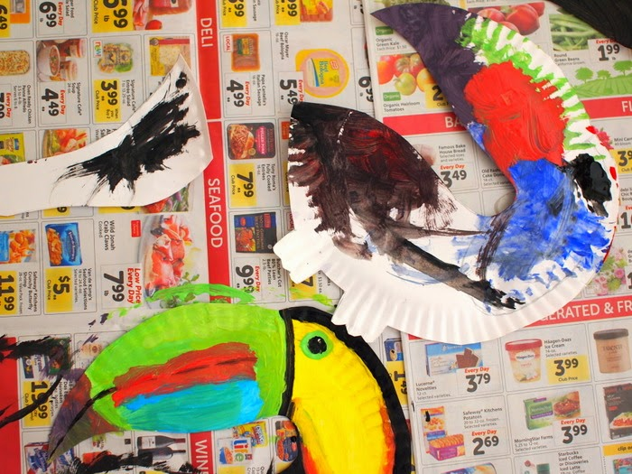 Paint your paper plate toucan