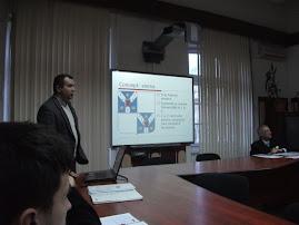 Aspect din timpul şedinţei: Prof. Ştefan S. Gorovei şi dr. Cătălin Hriban, 8.III.2011