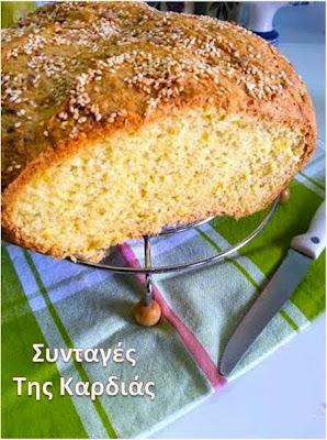 Ψωμί με κολοκύθα και λαδοτύρι