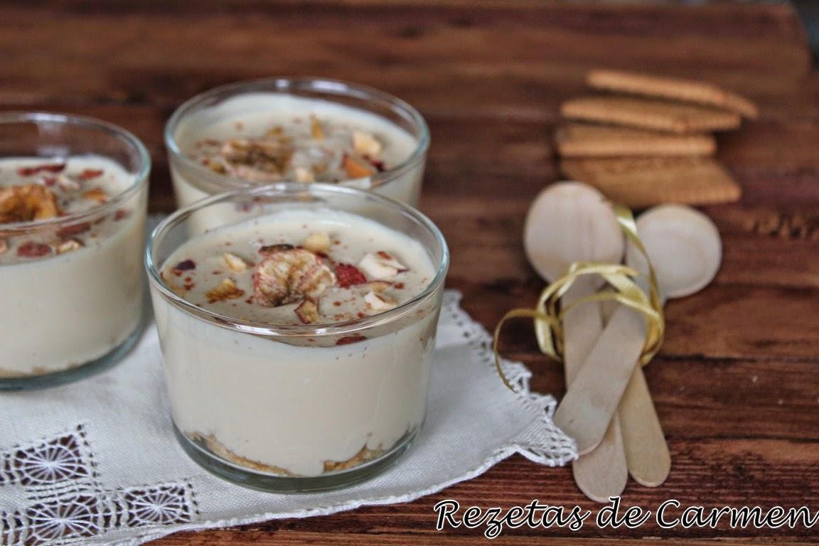 rezetas de carmen: Vasitos de mousse de plátano y caramelo