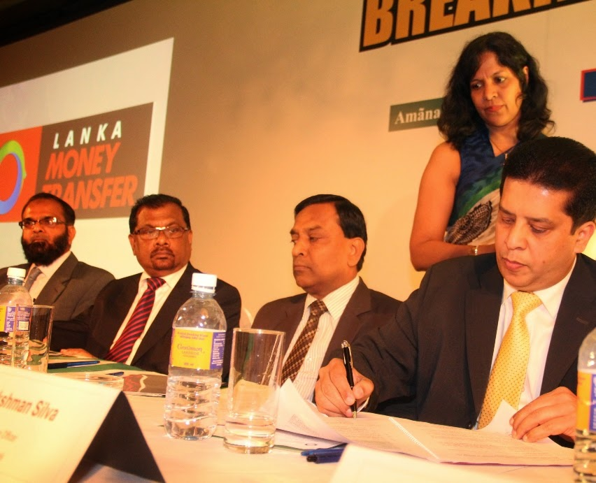 Mr. Lakshman Silva, CEO DVB signing the agreement