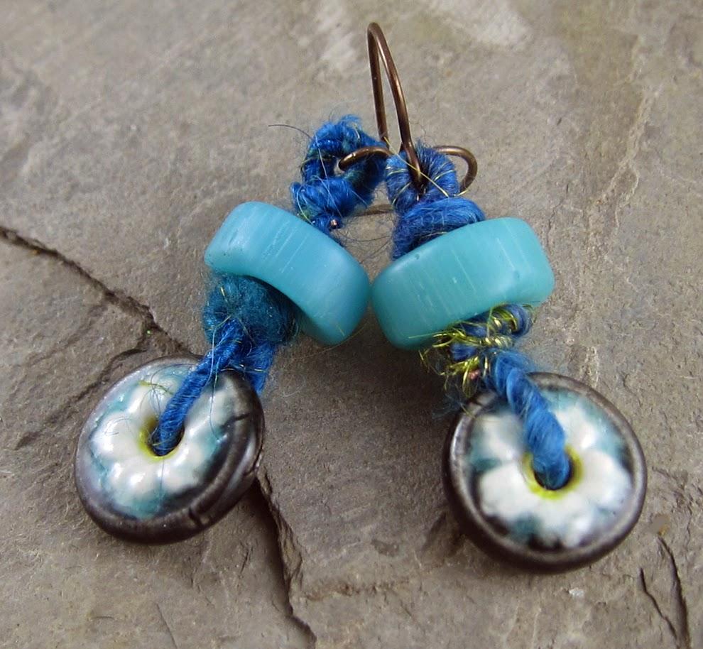 Earrings Everyday: Wooly Wire Earrings