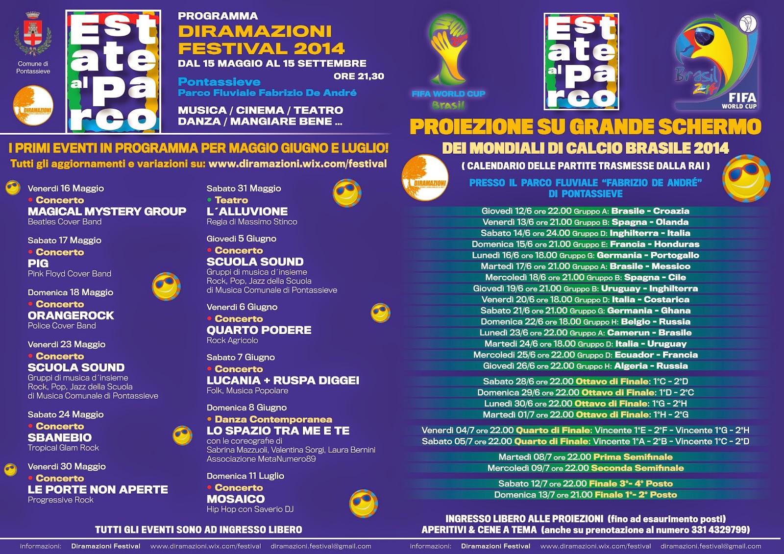 diramazioni, festival, estate al parco, 2014, live, concerti, teatro, danza, frasco, cambiamusica