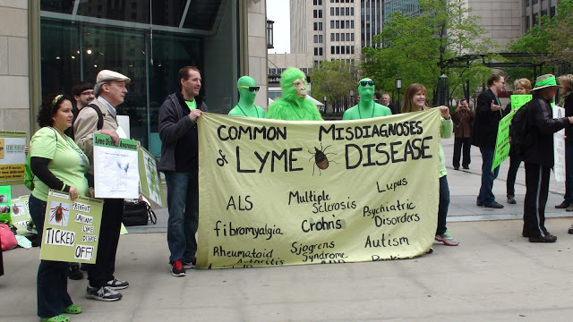 Green Gorilla and Green Ape help spread Lyme Awareness