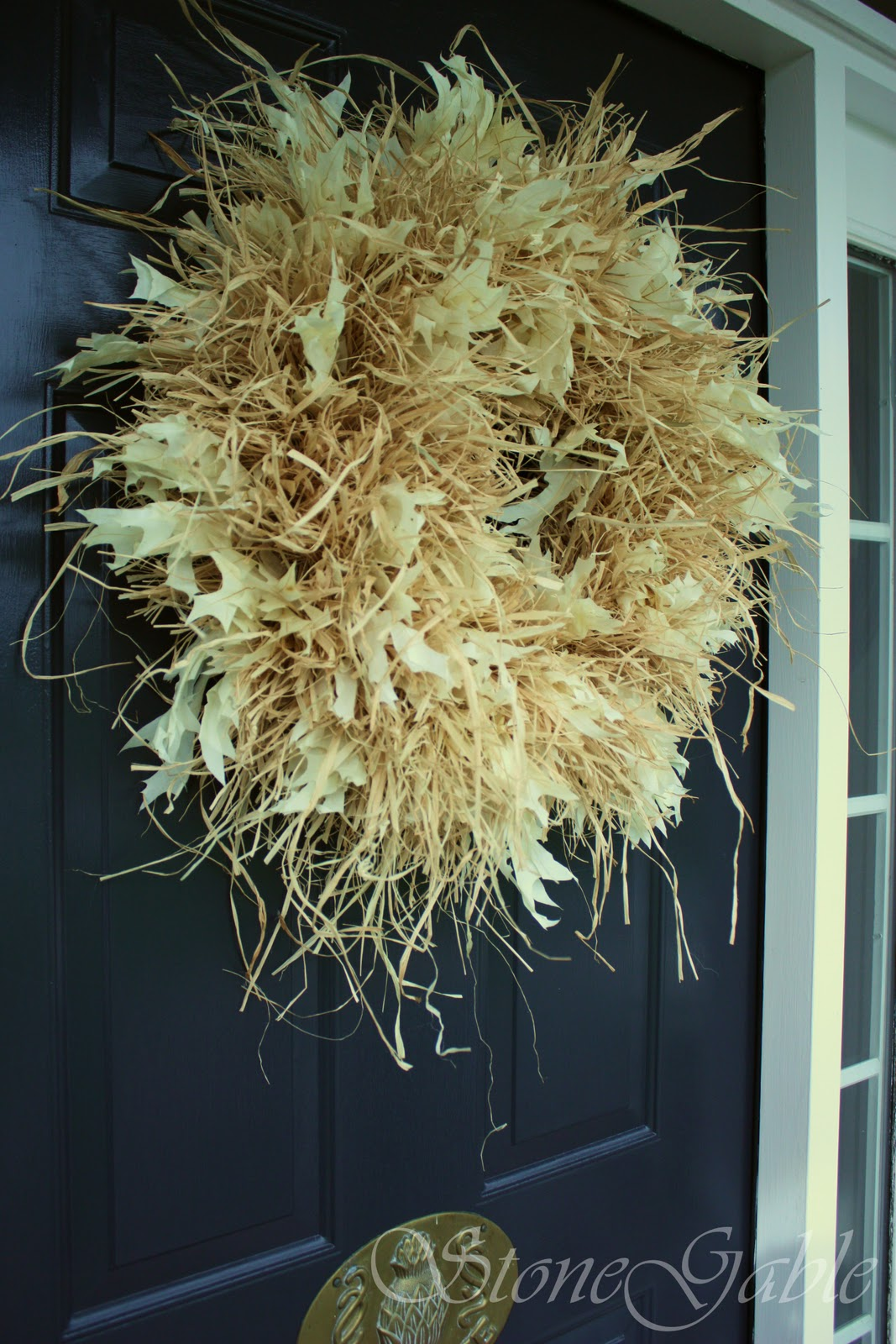 Decorating With Raffia Raffia Wreath Tutorial Stonegable