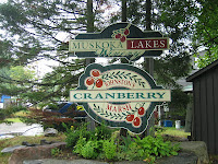 Muskoka Lakes Winery and Johnston's Cranberry Marsh sign