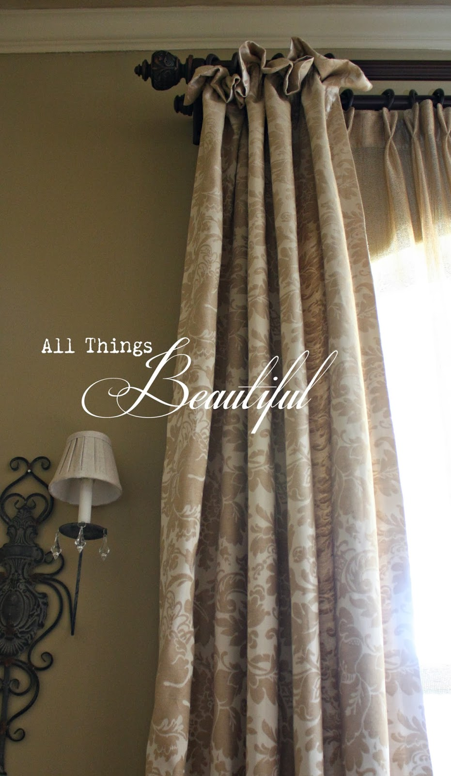 All Things Beautiful: The Dining Room {Drapery}