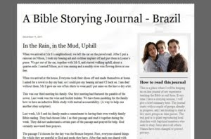 Bible Storying Journal - Brazil