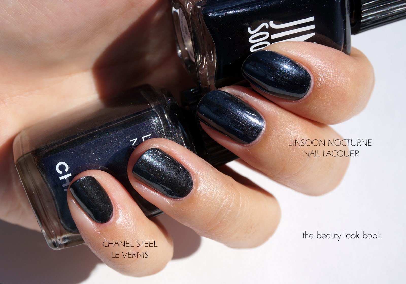 Close Dupe Alert: Chanel Steel Le Vernis and JINsoon Nocturne Nail ...