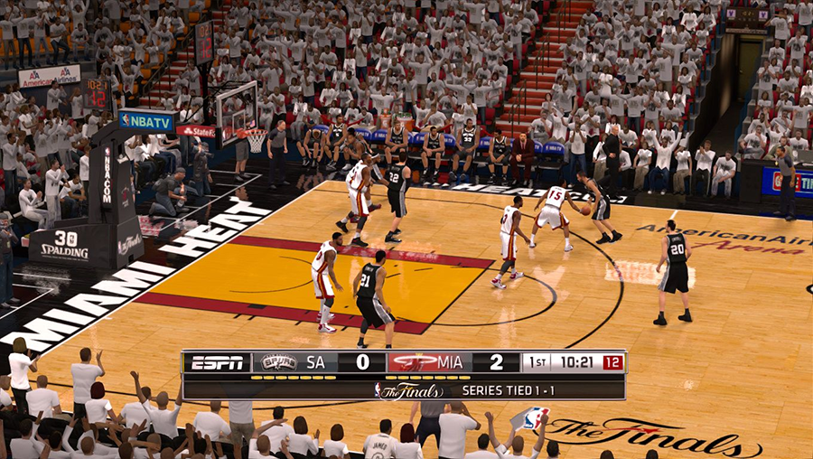 San Antonio Spurs vs Miami Heat 2014 Finals NBA 2K14 Mod