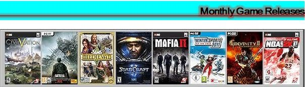 Monthly Games Releases