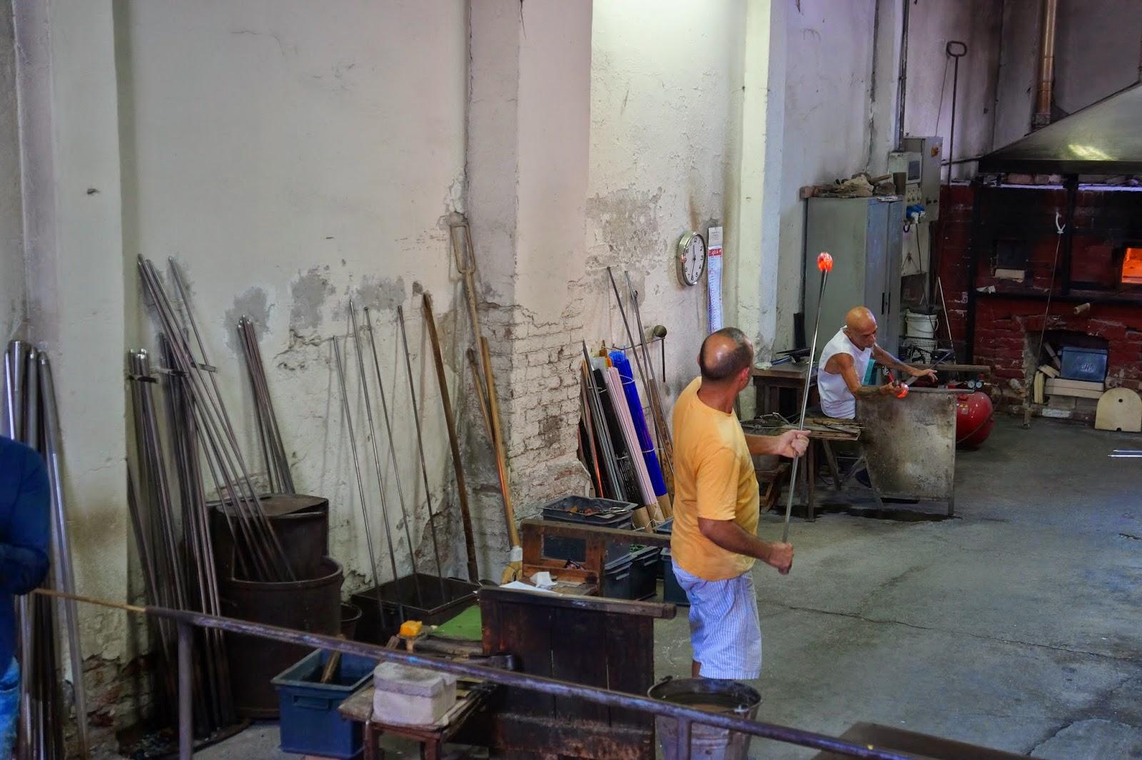 Glassfactory in Murano, Venezia.