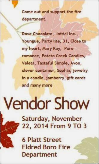 11-22 Vendor Show Eldred FD
