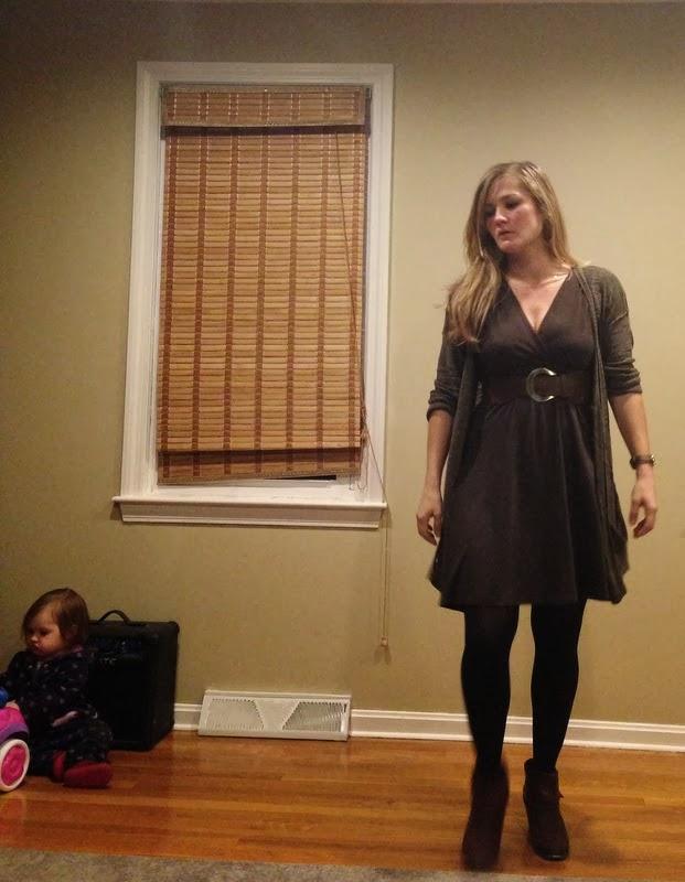 #Ann-Taylor-Loft-dress-Michael-Stars-cardigan-DV-Dolce-Vita-Java-Booties