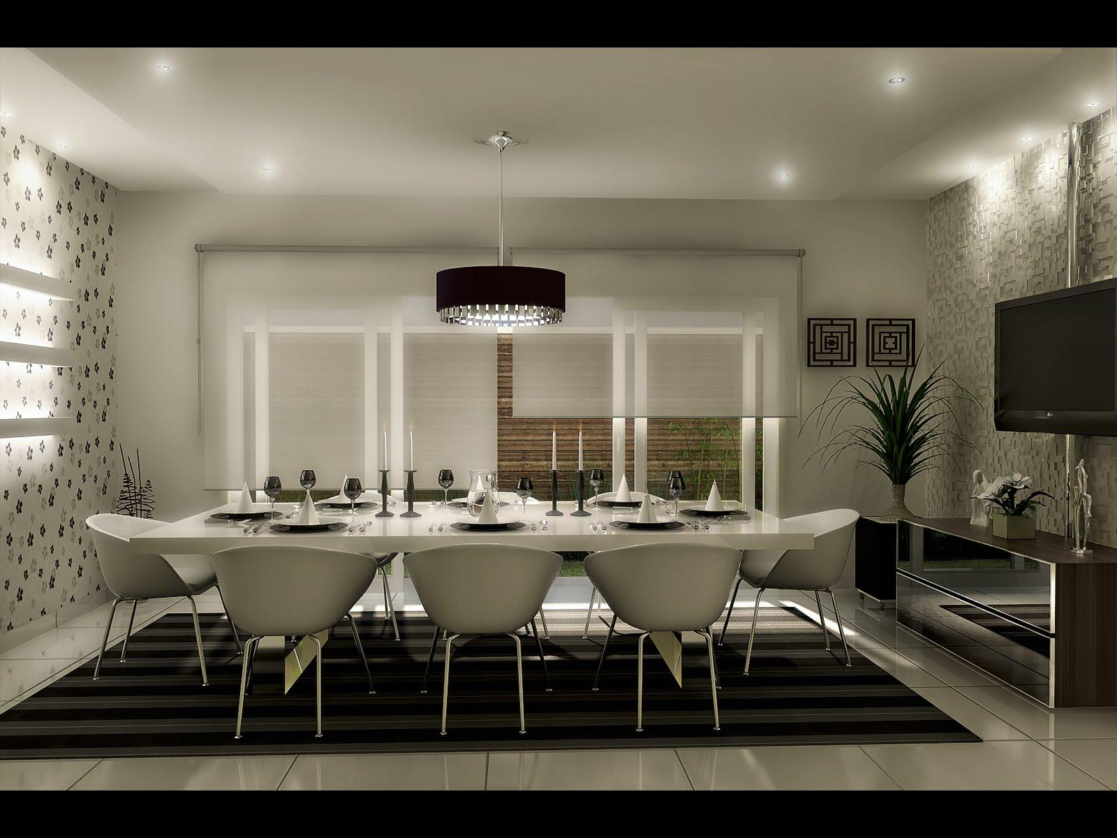 Sala De Jantar Retangular ~  confortavelmente, são necessários de 55 cm a 60 cm de largura