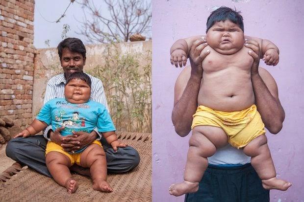 Bayi Paling Gemuk Ketagih makan Nasi Kari dan Capati