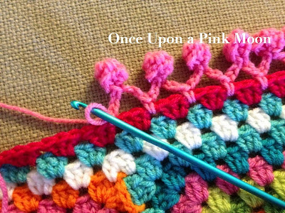 Once Upon A Pink Moon Pom Pom Edge