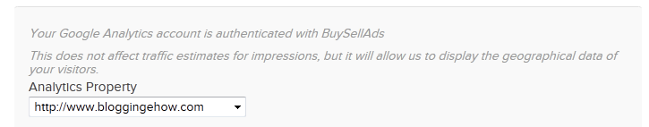 buysellads analytics integration