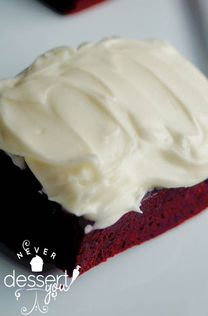 Never Dessert You Red Velvet Brownies