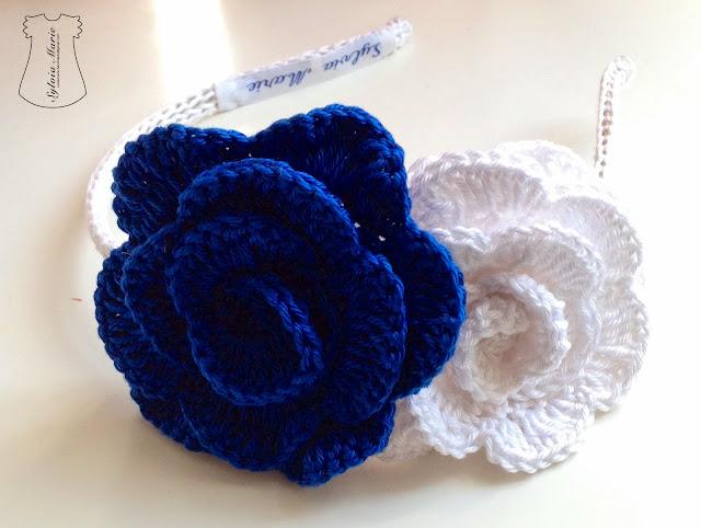 diadema hecha en crochet, haarreifen gehäkeln