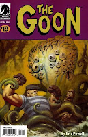 The Goon fights a tentacled monster!