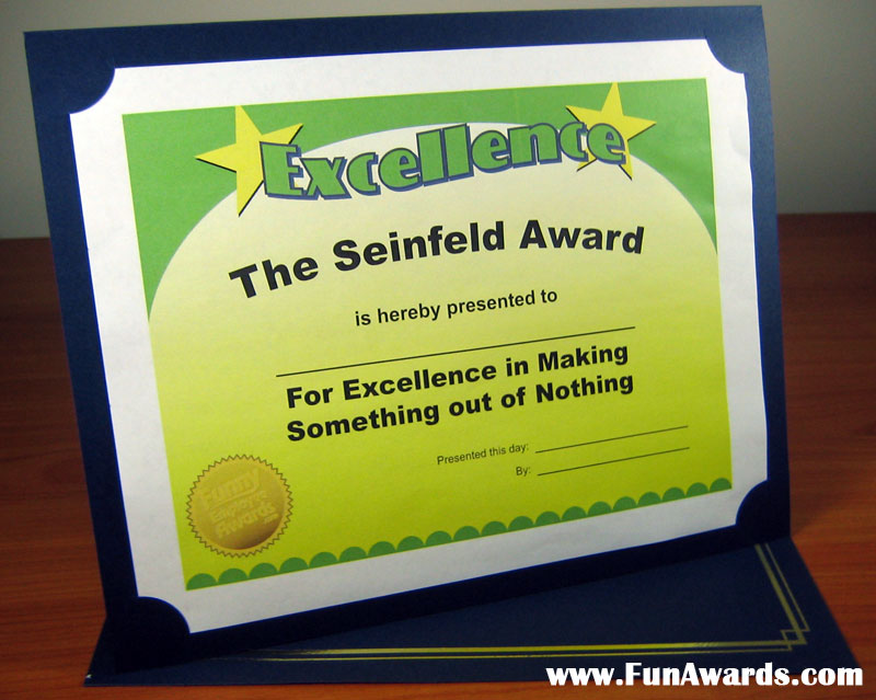 Funny Award Ideas: 2011