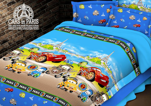 Sprei Anak Motif Car Paris