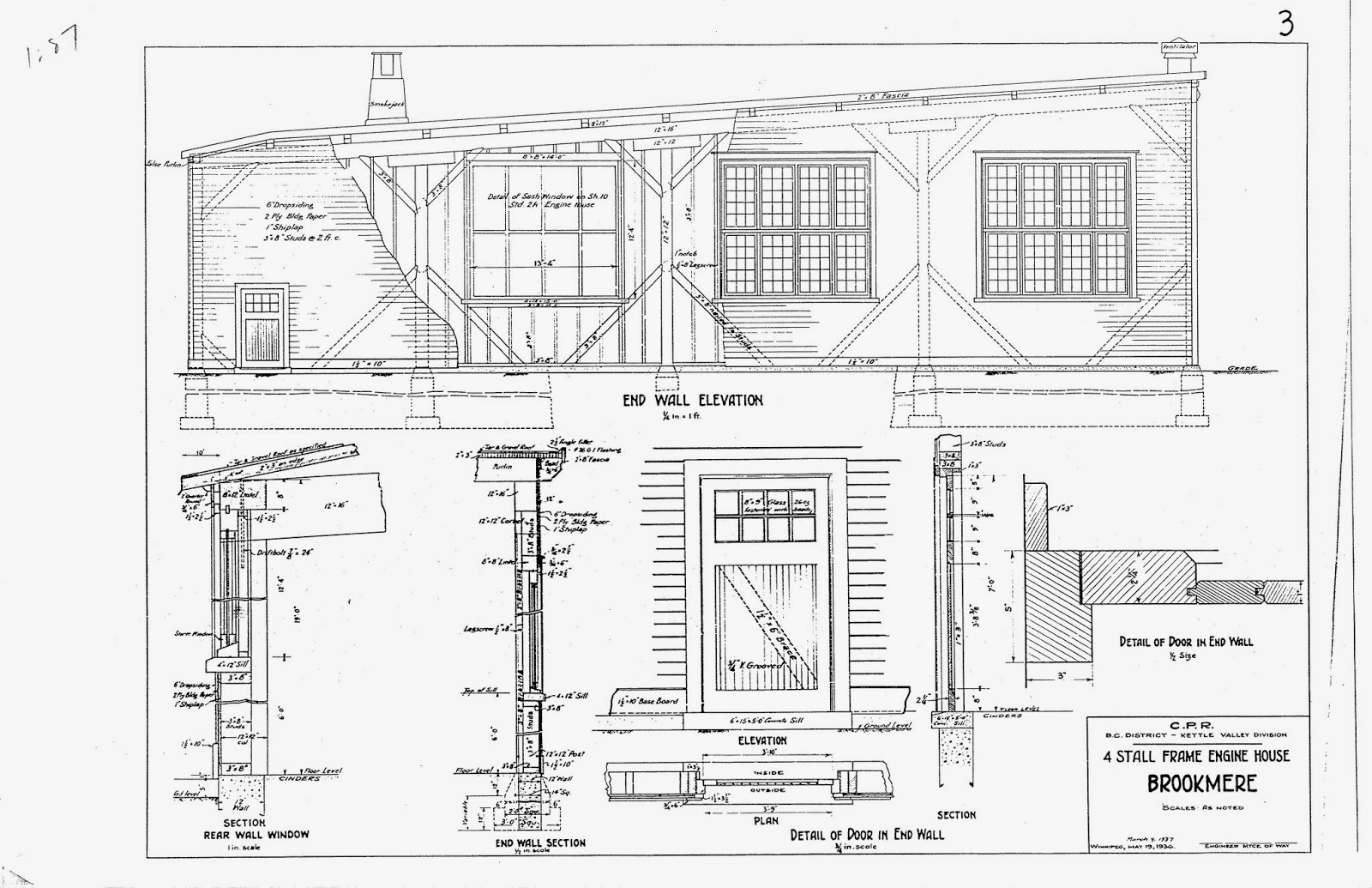 Kettle Valley Model Railway Brookmere Roundhouses I Ii 427 Engine Diagram Here Is A Drawing Of Smoke Jack That Predated The One Shown In Page 1 It Differs Principally Not Having Tapered Sides But This Included