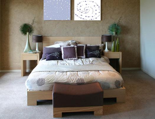 Fresh nature inspired bedroom