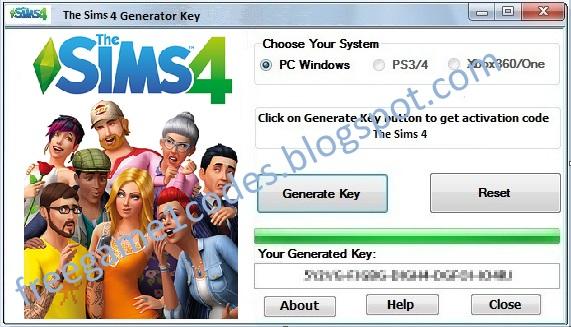 Sims 4 Key Generator ~ FreeGame1Codes