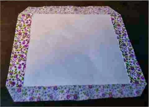 revestimento de cartolina com tecido