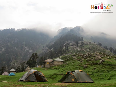 Tents at Triund Peak