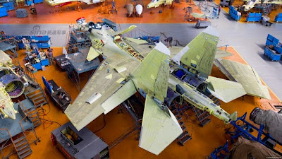 IRKUT Su -30SM fighter Assembly Plant