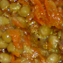 Tocanita taraneasca cu inima de porc, mazare si ghimbir