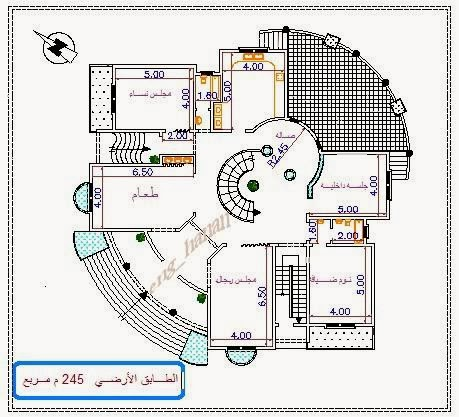 Awesome arabic house plans details for Awesome house blueprints