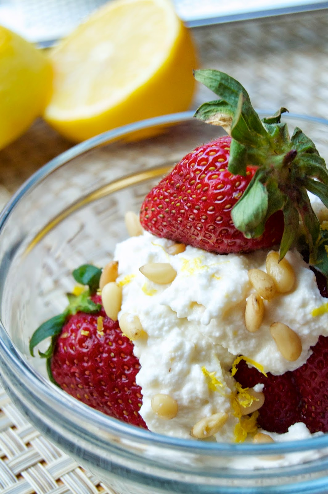 Strawberries with Lemon Honey Ricotta