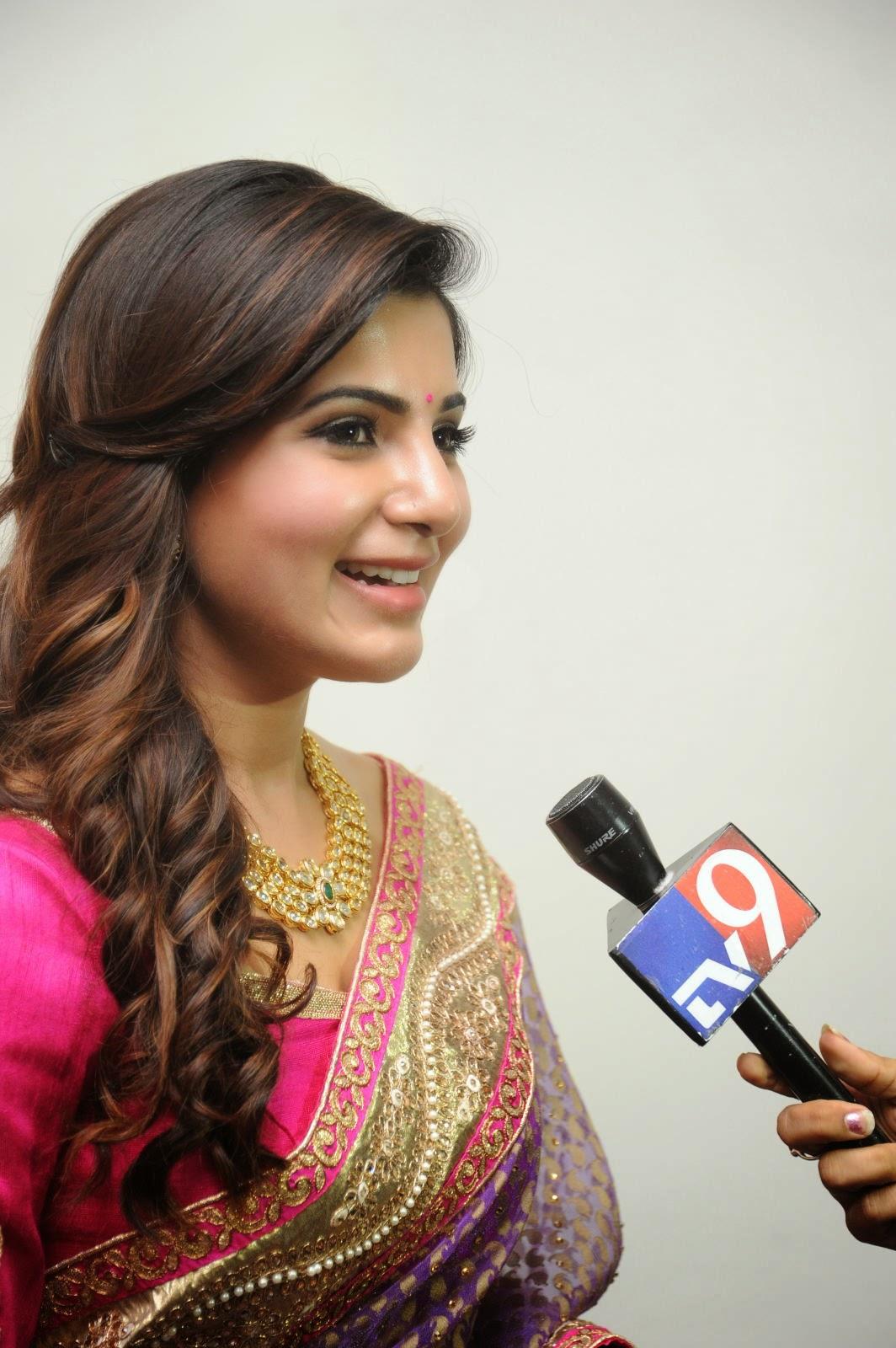 Samantha gorgeous photos in saree-HQ-Photo-10