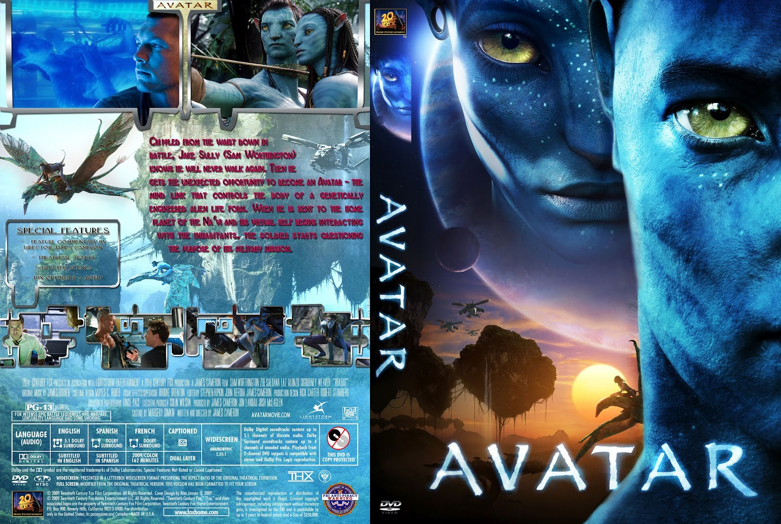 Avatar Dvd Disk Cover