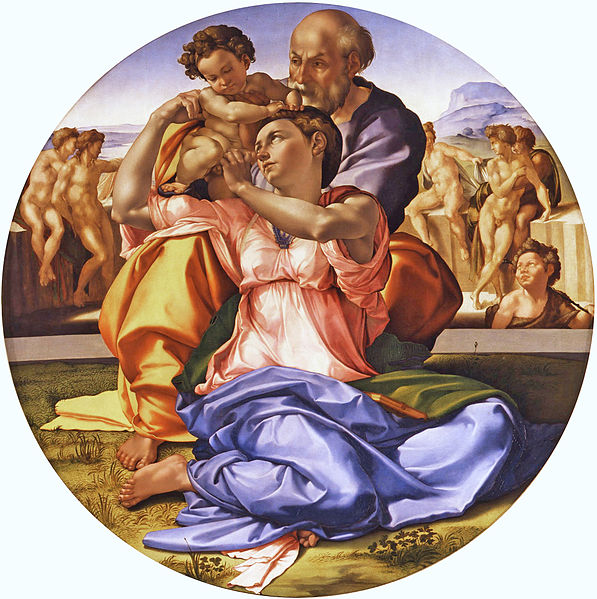 Michelangelo's 'Doni Tondo.' Photo: WikiMedia.org.