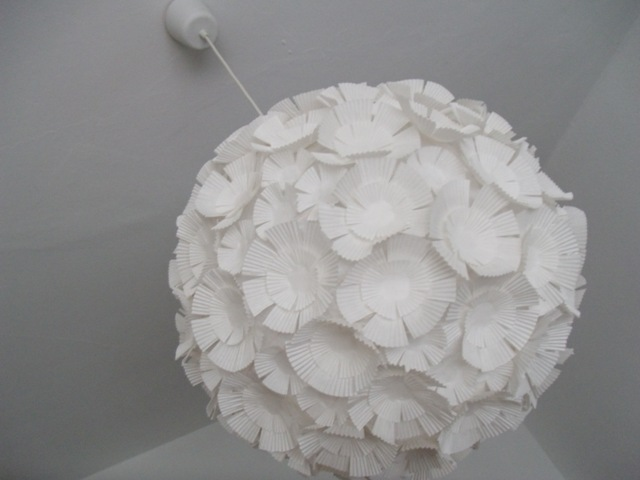 muffin liner lamp shade
