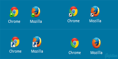 Menghilangkan Tanda Panah Shortcut Icon