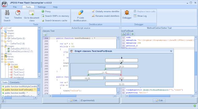 برنامج مجاني يتيح لك التعديل علي أي ملف فلاش SWF وفك تجميعه JPEXS Free Flash Decompiler
