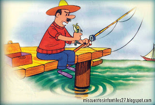 Cuento para niños: Fabula el Pescador y el Pececillo - FABULA SOBRE APRECIAR LO QUE SE TIENE EN EL MOMENTO
