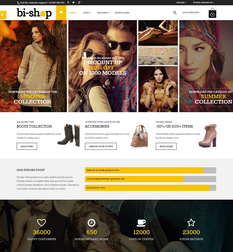 Bi-Shop All In One: Ecommerce & Corporate theme