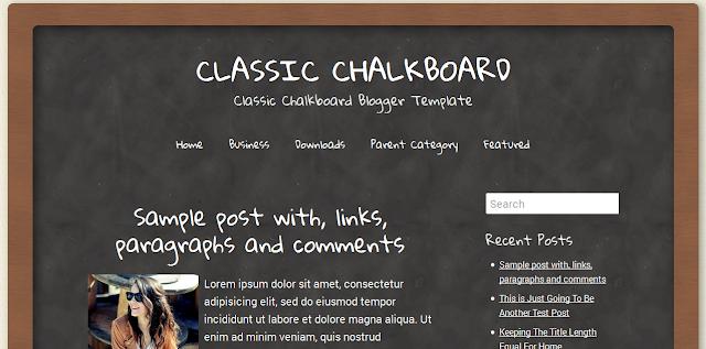 Chalkboard Free Blogger Template