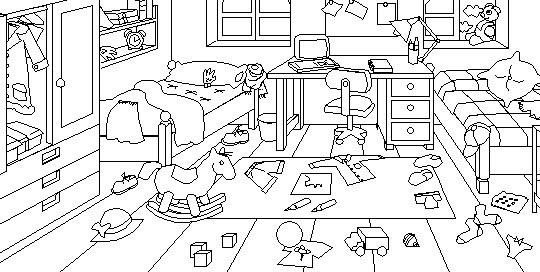 Caro pilchik como iluminar un dormitorio - Dibujo habitacion infantil ...