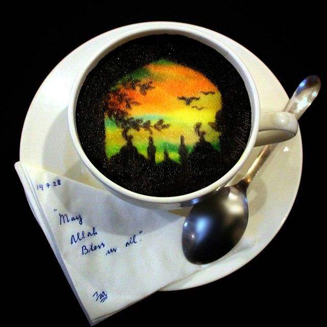 Ghidaq al-Nizar coffee artwork