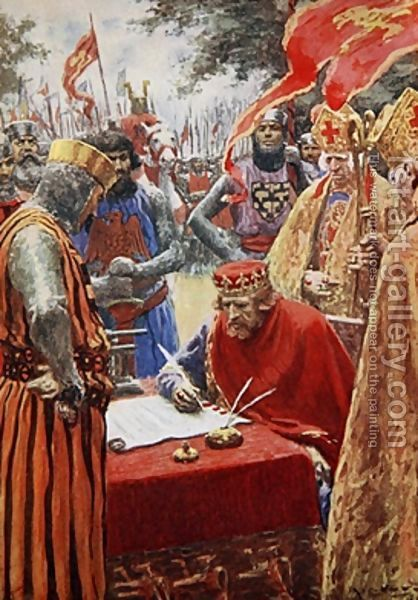 a history of king johns signing of the magna carta Richard the lionheart king john and the struggle with his barons magna carta, what was it.