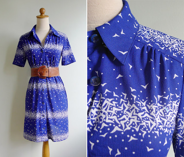 vintage novelty print bird dress