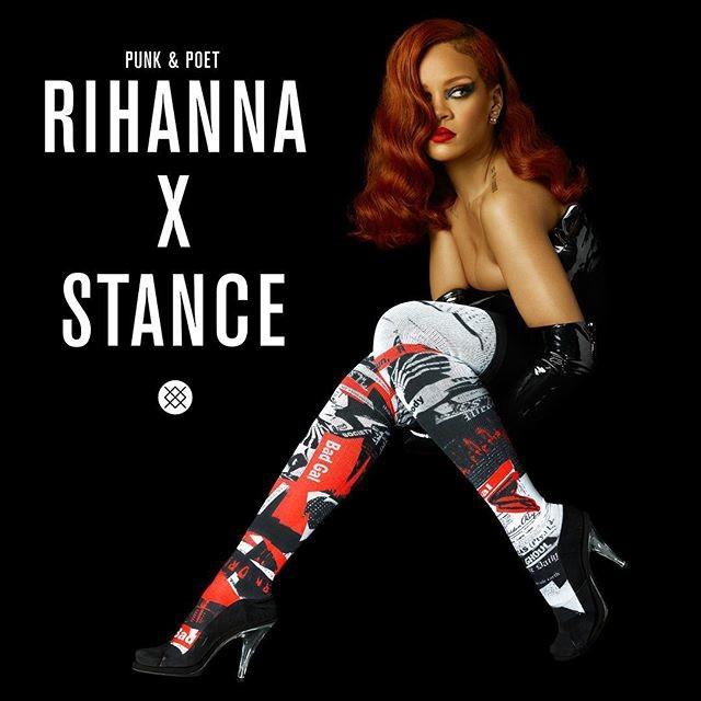 Rihanna in Stance Socks